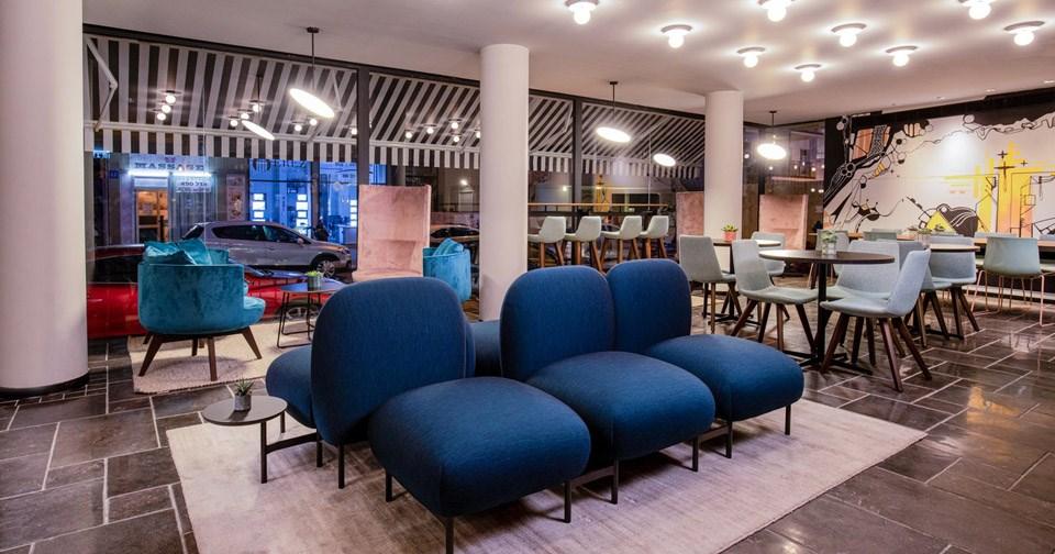אזור לובי - מלון מיוז תל אביב